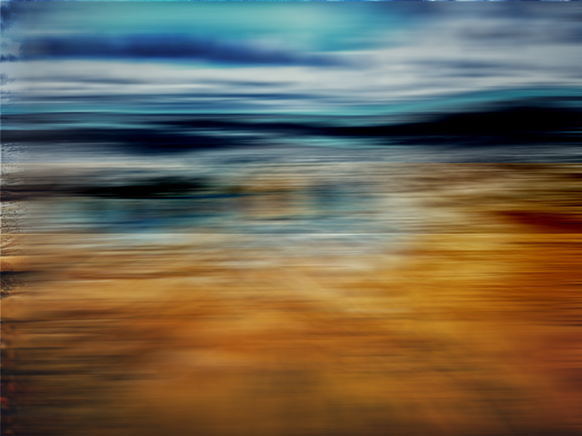 ABSTRACT BEACH BLUR 30 x40